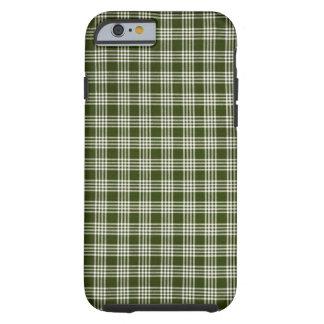 Hermoso, verde oscuro y blanco funda para iPhone 6 tough