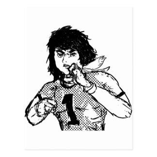 Héroe cómico japonés postal
