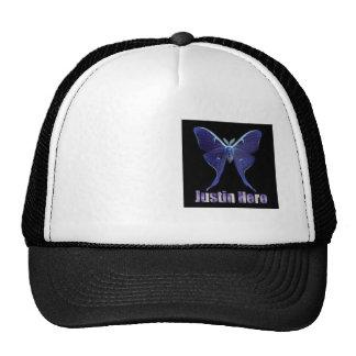 Héroe de Justin, gorra del logotipo de la polilla