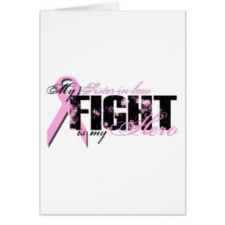 Héroe de la cuñada - cáncer de pecho de la lucha tarjeta de felicitación