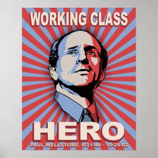 Héroe de Wellstone Póster