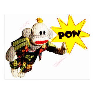 Héroe estupendo de SockMonkey Postal