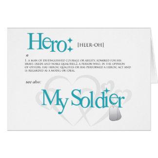 Héroe: Mi soldado Tarjeta