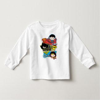 ¡Héroes de Chibi listos para la acción! Camiseta De Bebé