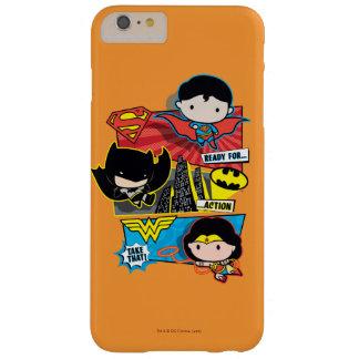 ¡Héroes de Chibi listos para la acción! Funda Barely There iPhone 6 Plus