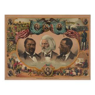 Héroes de la raza coloreada Frederick 1881 Douglas Postal