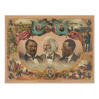 Héroes de la raza coloreada publicada por J. Hoove Postal