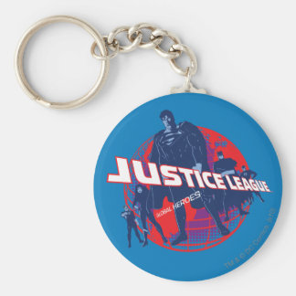 Héroes y globo globales de la liga de justicia llavero redondo tipo chapa