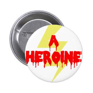 Heroína de la película del culto pin
