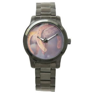 Herraduras en el país de madera del vaquero del relojes de mano