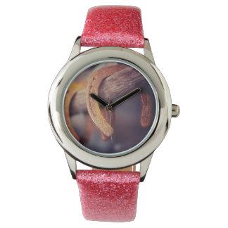 Herraduras en el país de madera del vaquero del relojes de pulsera