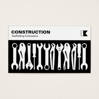 Herramientas - blanco en negro tarjeta de negocios