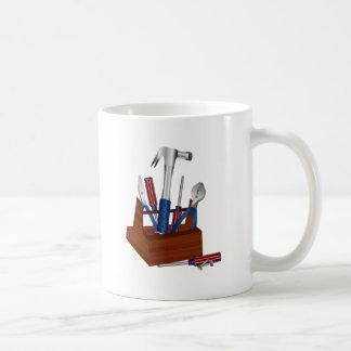 Herramientas de un dueño de la casa taza de café