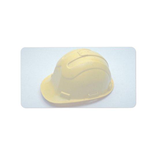 Herramientas del casco comercial etiqueta de dirección