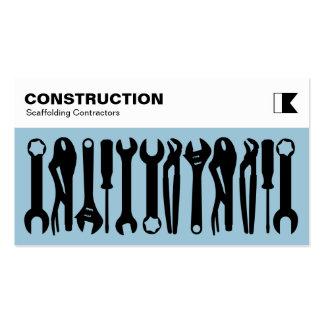 Herramientas - negro en 9dc6d8 azul claro tarjetas de visita