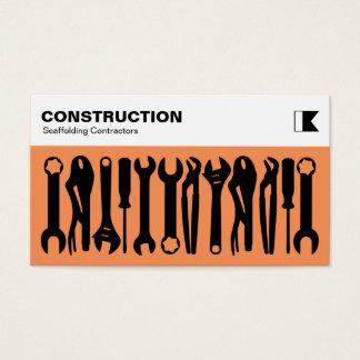 Herramientas - negro en el naranja f79256 tarjeta de negocios