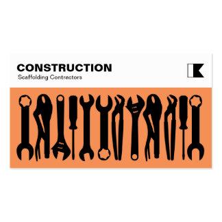 Herramientas - negro en el naranja f79256 tarjetas de visita