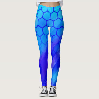 Hexágono azul leggings