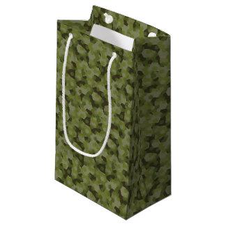 Hexágono geométrico del camuflaje bolsa de regalo pequeña