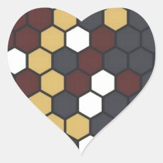 Hexágono Pegatina En Forma De Corazón