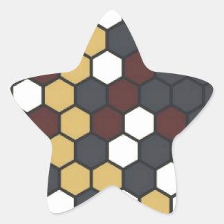 Hexágono Pegatina En Forma De Estrella