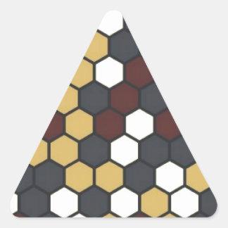 Hexágono Pegatina Triangular