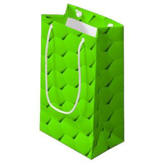 Hexágono verde bolsa de regalo pequeña