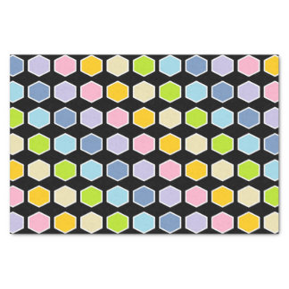 Hexágonos en colores pastel resumidos blanco del papel de seda