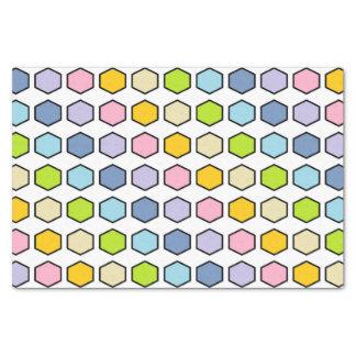 Hexágonos en colores pastel resumidos negro del papel de seda
