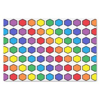 Hexágonos resumidos negro del arco iris papel de seda