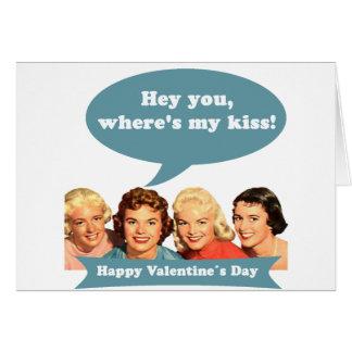 Hey You - Valentine s Day Tarjeton