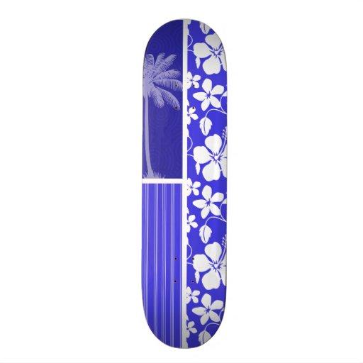 Hibisco azul tropical; Palma Monopatines Personalizados