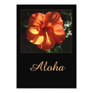 Hibisco de la hawaiana invitación 12,7 x 17,8 cm