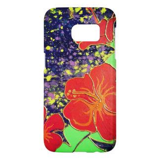 Hibisco del rojo de LineA Funda Samsung Galaxy S7
