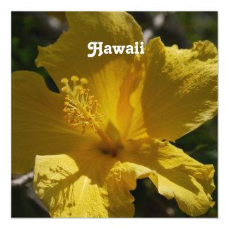 Hibisco hawaiano invitación 13,3 cm x 13,3cm