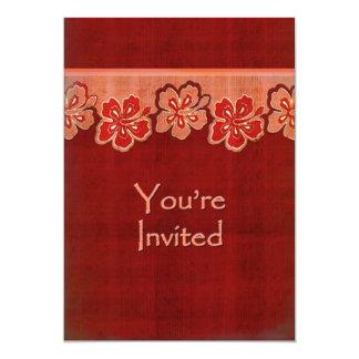 Hibisco hawaiano invitado invitación 12,7 x 17,8 cm