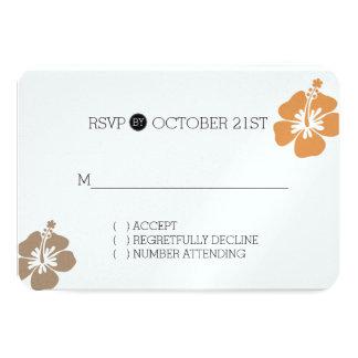 Hibisco hawaiano RSVP floral Invitación 8,9 X 12,7 Cm