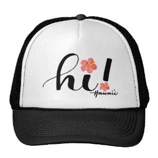 ¡Hibisco Hawaii hola! Gorra del camionero