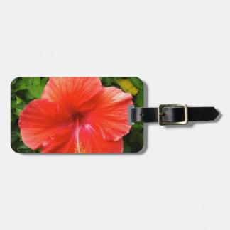 Hibisco rojo tropical Bonita Springs la Florida Etiqueta Para Maletas