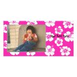 Hibisco rosado adaptable Photocard Tarjeta Fotográfica