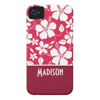 Hibisco tropical de Fuschia floral Case-Mate iPhone 4 Coberturas