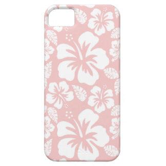 Hibisco tropical de los rosas bebés iPhone 5 Case-Mate protector