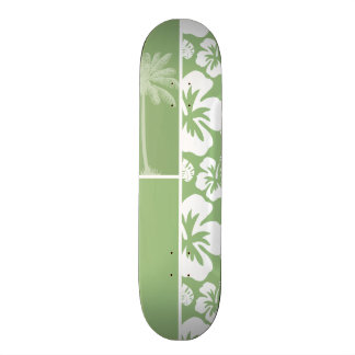 Hibisco tropical hawaiano verde del laurel Palma Tablas De Patinar