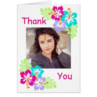 Hibisco tropical - la graduación le agradece tarjeta pequeña