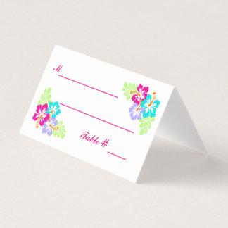 Hibisco tropical - tarjetas del acompañamiento