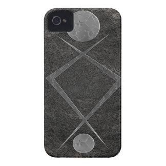 Híbrido del metal iPhone 4 Case-Mate fundas