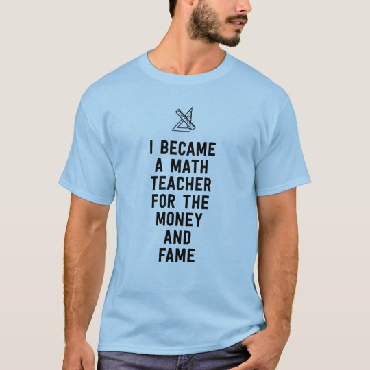 Hice profesor de matemáticas para el dinero y la camiseta