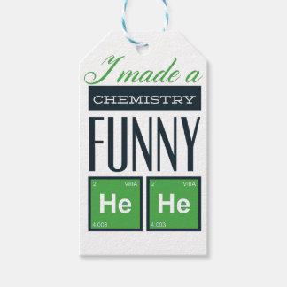 Hice una química divertida aquí etiquetas para regalos