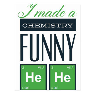 Hice una química divertida aquí postal