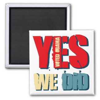 Hicimos sí Obama votado Imán Cuadrado